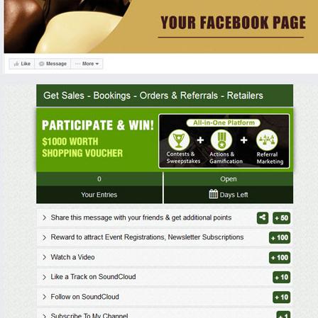Auch über Facebook einbindbar: Social Boost